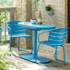 patio bistro table and chairs outdoor bistro sets you ll love wayfair