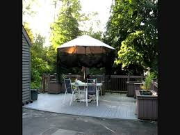 Offset Patio Umbrella With Mosquito Net by Bug Umbrella Demonstration Youtube