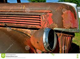 Old Ford Truck Grills - old rusty ford pickup editorial photography image 72747547