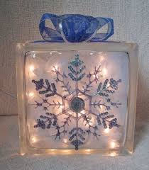 Ingenious Ideas Glass Block Christmas Light Lights In With Inside