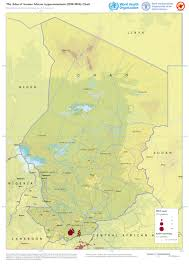Chad Map Who Mapping The Distribution Of Human African Trypanosomiasis