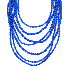 long beads necklace images Long multi strand beaded necklace cobalt blue necklace by jpg