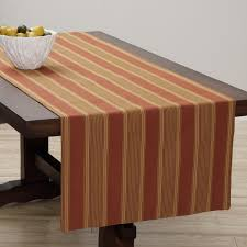 extra wide italian woven rust gold table runner 95 x 26 inches