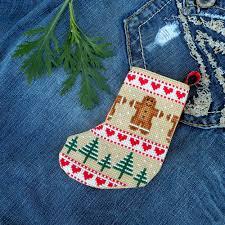 cross stitch christmas mini stockings pattern cute christmas