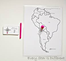 A Map Of South America South America Unit W Free Printables Every Star Is Different