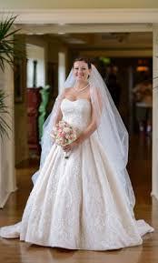 oleg cassini beaded lace tulle wedding dress 700 size 12 used