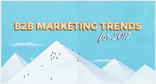 Design Trends For 2017 B2b Marketing Trends For 2017 Infographic Uberflip