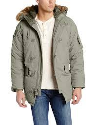 Green Parka Jacket Mens Alpha Industries Men U0027s Altitude Oxford Nylon N3 B Parka Jacket At