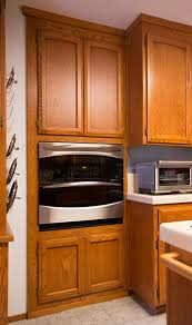 Kitchen Oven Cabinets Custom Oven Cabinet Made To Match Existing Cabinetry Kelbuilds