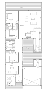 narrow lot house plans contemporary home plan with courtyard open planning