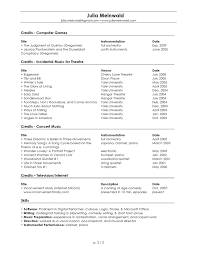music resume template music teacher cv template job description