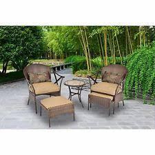 Patio Furniture Conversation Sets by 5 Piece Patio Furniture Conversation Set Outdoor Leisure Ottoman