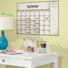 roommates 2 5 in x 27 in scroll dry erase calendar peel and