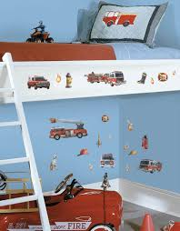 Wall Decals For Boys Room Fire Trucks Wall Decals Stickers Boys Room Decor
