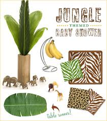 jungle baby shower jungle baby shower theme chic stylish hostess with the mostess
