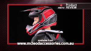 evs motocross helmet mxtv product review evs r4 neck brace youtube