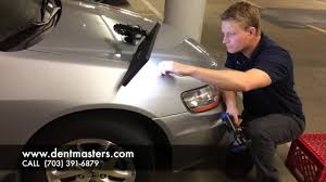 how to remove a dent in a honda accord fender bethesda md youtube
