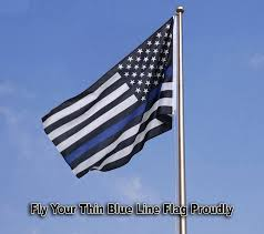 With All Flags Flying Thin Blue Line Flag Law Enforcement Oates Flag