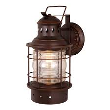 Outdoor Nautical Decor by Shop Cascadia Lighting Nautical 18 In H Burnished Bronze Outdoor