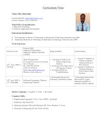 engineering college lecturer resume format teachers sample resume