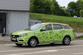 lada 2018 lada vesta combi spied for the first time prototype is hard