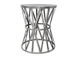 silver barrel side table astounding white marble and metal round accent table world market