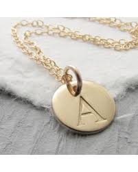 personalized gold jewelry bargains on initial necklace personalized 14k gold solid gold charm