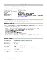 sample resume for dot net developer experience 2 years sample resume for hotel management fresher free resume example job resume mca resume format for freshers template resume for it professional