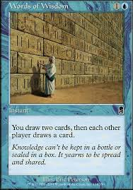 Words Of Wisdom Cards Words Of Wisdom Ody Mtg Card