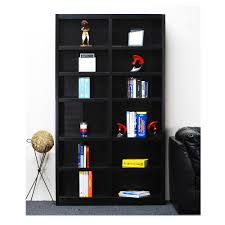 Leaning Shelf Bookcase Dark Brown Wood Bookcases Home Office Furniture The Home Depot