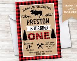 moose invitation etsy