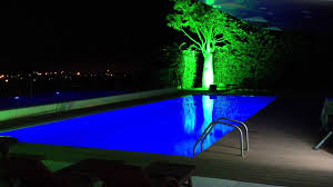 multi color led landscape lighting pool with multi colored led lighting youtube