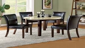 42 quot round small dining room table set saddle brown 3 small