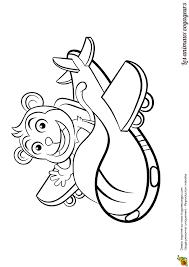 coloriage des animaux voyageurs le singe et l u0027avion à réaction