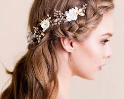 gold hair accessories wedding hair accessories flowering handmade by florentes
