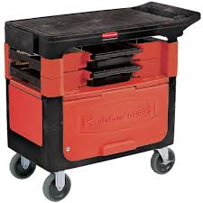 rubbermaid service cart with cabinet rubbermaid utility cart w cabinet 2 boxes 4 bins trash cans