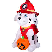 walmart inflatable halloween decorations gemmy airblown inflatable 4 u0027 x 2 5 u0027 paw patrol marshall with