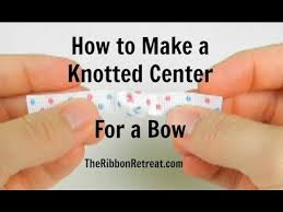 hair bow center how to make a knotted center for a bow theribbonretreat