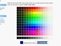 html color codes youtube
