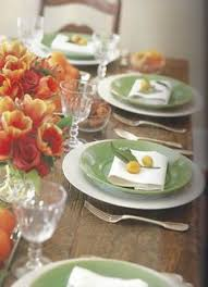 my table setting for this year s thanksgiving i lined the center