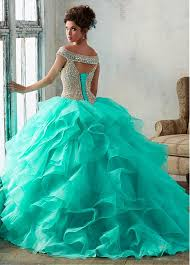 quincenera dress buy discount charming organza the shoulder neckline gown