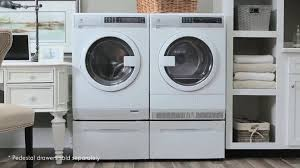 Bosch Laundry Pedestal Electrolux Eifls20qsw 24 Inch Front Load Washer With Steam Nsf