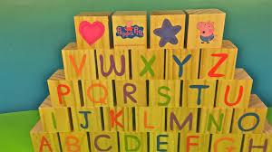 learn alphabet colors u0026 puzzle blocks peppa pig