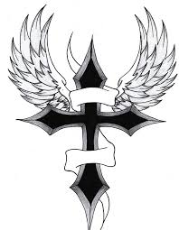 simple black cross tattoo cross with wings tattoos pinterest tattoo