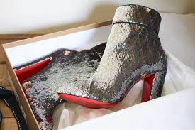 christian louboutin sequin boots it u0027s party time a model recommends