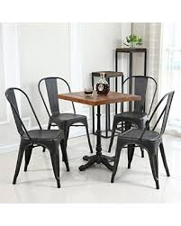 Antique High Back Chairs Find The Best Black Friday Savings On Belleze Set Of 4 Metal