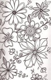 Flower Drawings Black And White - my inspiration u2014 flower doodles flower doodles simple doodles