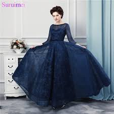 aliexpress com buy navy blue long prom dresses high quality lace