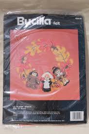 bucilla felt kits felt craft needlework kits sealed vintage thanksgiving fall decor