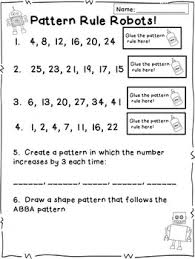 pattern and numbers number pattern activities centers and craftivities markers
